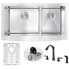 33inch Farmhouse Stainless Steel Apron Kitchen Sink Set Single Farmhouse Stainless Steel Kitchen Sink