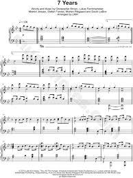7 years old sheet music