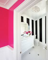 pink wall paintNeon Pink Wall Paint  Contemporary  bathroom  Benjamin Moore