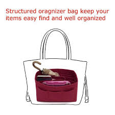 <b>Felt makeup</b> bag <b>organizer</b> insert handbag travel inner purse ...