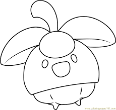 Small Picture Bounsweet Pokemon Sun and Moon Coloring Page Free Pokmon Sun