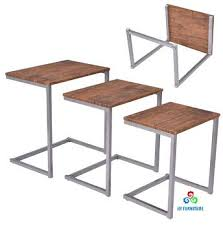 wood nesting coffee table stacking nesting end table set wooden nest of tables 3 coffee table
