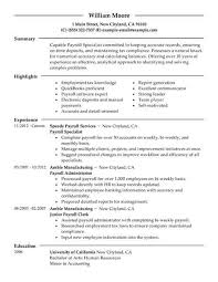Resume Topics Mesmerizing Best Payroll Specialist Resume Example LiveCareer