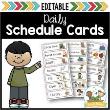 Printable Picture Schedule Cards For Preschool And