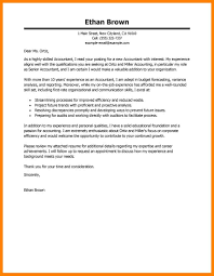 10 Accounting Cover Letters Samples Letter Adress