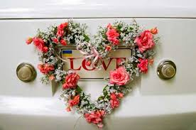 Wedding Car Decorations Accessories Beautiful wedding car decoration 27