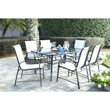 7 piece round patio dining set idea patio glass table and outdoor living 7 piece steel