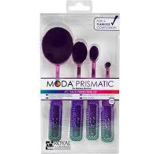 moda makeup brushes. moda prismatic face perfecting makeup blending brushes with handles kit (4 count) - walmart.com moda walmart
