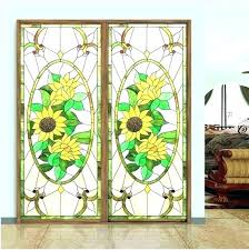 stained glass stickers for doors window privacy clings etched decorative windows