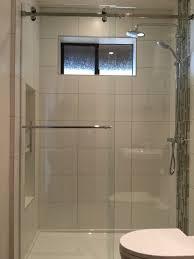 Serenity series frameless sliding shower enclosure. 3/8