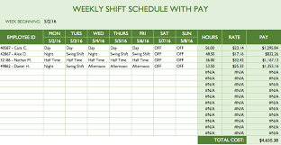 Schedule Monthly Template Employee Schedule Template Excel Top Form Templates Free