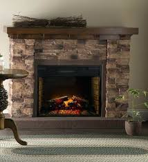 stone electric fireplace precious fireplaces with faux mantle decor capitan