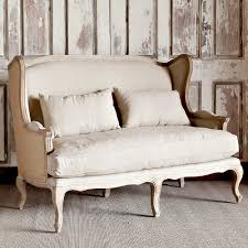 burlap furniture. Park Hill Collection Country Linen \u0026 Burlap Wingback Settee Furniture V