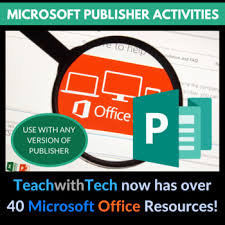 Ms Publisher Lesson Plans Microsoft Publisher Activities By Gavin Middleton Tpt