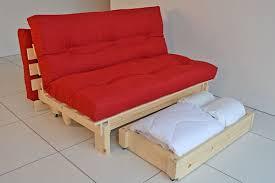 image of folding futon mattress wood