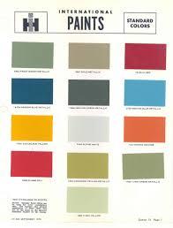 Paint Chart International Harvester International