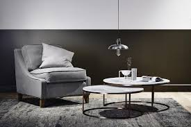 lifestyle image elle round marble nest coffee tables