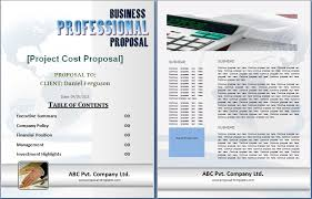 Cost Proposal Templates MS Word Project Cost Proposal Template Proposal Templates 33