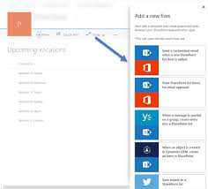 Microsoft Sharepoint Templates Microsoft Flow Integration With Sharepoint Modern Lists Preview