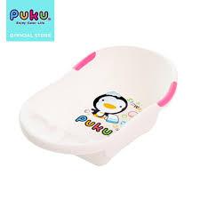 puku antibacterial baby bath tub pink l