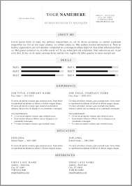 20 Free Resume Word Templates To Impress Your Employer Responsive