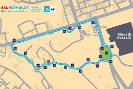 Track Layout For Formula Es Saudi Arabia Race In Riyadh