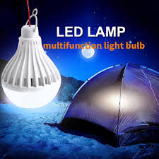 Portable Solar Panel Power Led Light Bulb Lamp For Outdoor Camp Tent