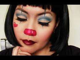 easy cute clown tutorial for or a costume party