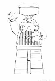 Lego Cowboy Coloring Pages Color Bros