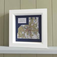 wall art personalised church framed map on personalised framed wall art uk with personalised church shaped map unique wedding gift butler and