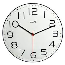 leni classic wall clock white