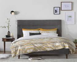 scandinavian bedroom furniture. curate a modern bedroom with the tambur bed from scandinavian designs tall headboard and furniture
