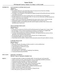 Support Specialist Resume Samples Velvet Jobs