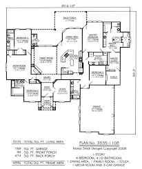 4 bedroom house plans one story no garage outstanding media rooms house plans