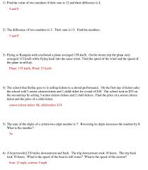 system of equations word problems solving systems word problems worksheet