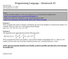 Program Notes Template Solved Programming Language Homework 3 Eng Anis Nazer P