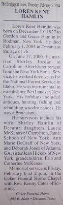 Obituaries from the Bridgeport Index Newspaper (1976-2010) Last Names H-L