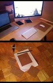 d i y cork mousepad mouse pad
