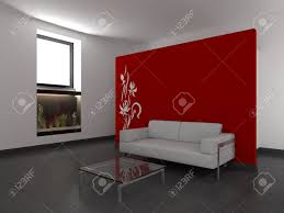Red Wall Living Room Decorating Red Wall In Living Room Living Room Ideas