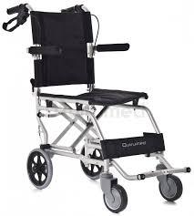 Silla de ruedas de aluminio para viajes. 36 cm.