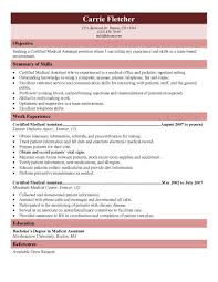 Free Examples Of Resumes For Medical Assistants Www