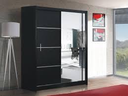 Black Wardrobe With Mirror Brand New Modern Bedroom Sliding Door Wardrobe  With Mirror Vista