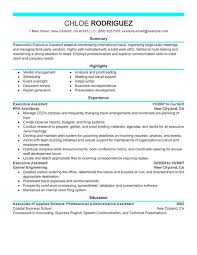 Resume Template Executive Assistant Executive Assistant Resume Sample Administrative Assistant