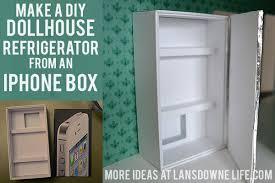 dollhouse furniture diy. make a diy dollhouse refrigerator from an iphone box furniture diy