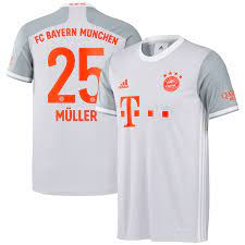 Men's adidas Thomas Muller Gray Bayern Munich 2020/21 Away Replica Jersey