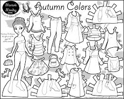 Small Picture Paper Doll Coloring Pages To Download And Print For Free