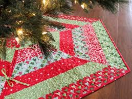 Christmas Tree Skirt Pattern Interesting Quilted Christmas Stocking And Tree Skirt Patterns