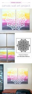 cutting edge stencils shares how to stencil diy canvas artwork using the passion mandala wall pattern on diy stencil canvas wall art with stencil an easy canvas wall art project