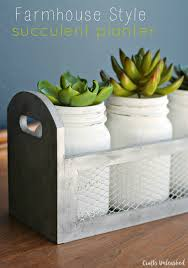 farmhouse style diy succulent planter box