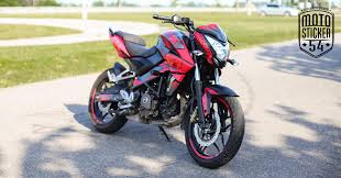 Pulsar Sticker Design Bajaj Pulsar Ns200 Custom Design Red Sticker Kit
